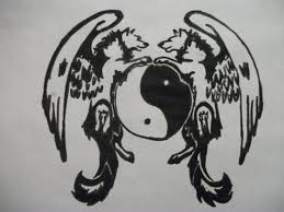 tribal wolf with wings drawing 21845 webnode