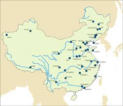 rivers in china map text effect customization geog 486 cartography and visualization