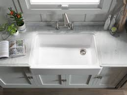 kohler cast iron farmhouse sink kohler k 6351 0 white whitehaven 35 11 16 single basin farmhouse
