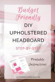 Upholstered Headboards Diy by Diy Upholstered Headboard
