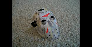 paper model of the jason voorhees mask from