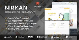 nirman professional construction joomla template by bdthemes