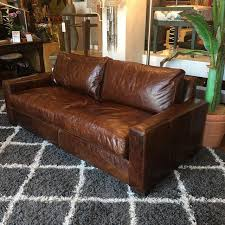 restoration hardware maxwell leather sofa restoration hardware petite maxwell leather sofa chairish