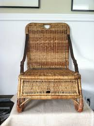 canoe seat vintage wicker portable folds up by stoneheartsvintage