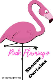 pink flamingo shower curtains see them here