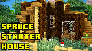 minecraft spruce forest starter house base tutorial xbox pc pe