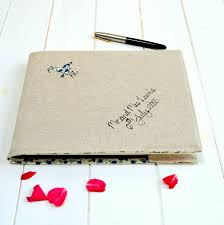 linen writing paper personalised linen wedding guest book by handmade at poshyarns personalised linen wedding guest book