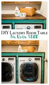 Laundry Room Table With Storage Diy Laundry Room Table For 100 You Will This Makeover