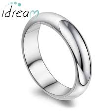 men promise rings domed polished wedding band for women or men personalized