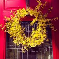 whimsical spring forsythia wreath jenna burger forsythia wreath home pinterest forsythia wreath wreaths and etsy