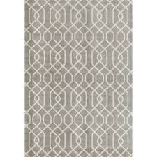 Modern Pattern Rugs World Rug Gallery Modern Trellis Pattern Gray 7 Ft 6 In X 9 Ft