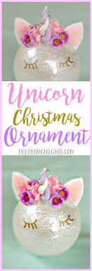 this magical unicorn ornament is an easy diy ornament to
