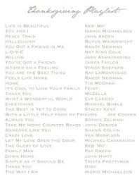 the ultimate give thanks playlist thanksgiving table