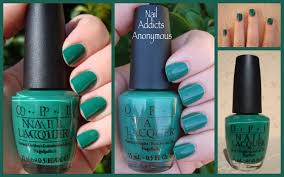 nail addicts anonymous notd swatch opi u0027s jade is the new black