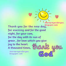 there are thousands reasons to give thanks to you my god