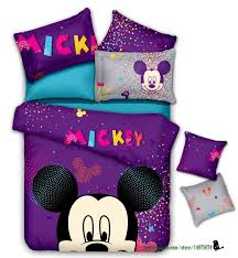 Mickey Mouse Sofa Bed by Purple Cotton Comforter Sets Children Duvet Cover Bedskirt And