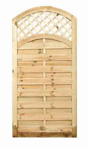 curved trellis top solid gate