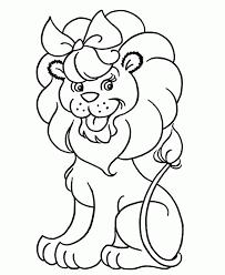 cute lion coloring kids coloring