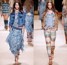 moda donna etro 2015 summer womens looks denim fashion week