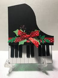 piano card holiday handmade cards greeting cards birthday cards