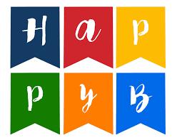 happy birthday banner free printable paper trail design