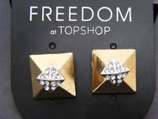 topshop message stud earrings topshop fashion earrings ebay