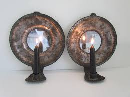 Tin Wall Sconce Pair Of Mirrored Sconces Antiques Michigan