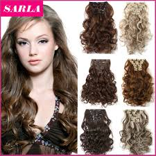 curly hair extensions lestina 22 colors free shipping 50cm 20inch 7pcs set curly hair