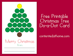 christmas tree do a dot card contented at home
