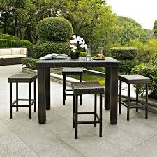 High Top Table Set Patio Patio High Top Table Black Round Modern Wooden Patio High
