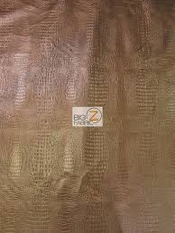 Alligator Upholstery Alligator Embossed Vinyl Faux Leather Pleather Fabric Bronze