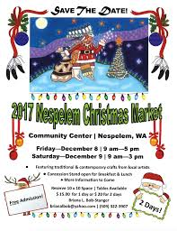 save the date 2017 nespelem christmas market u2014 colville tribes