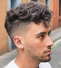 short sides and curl top hairstyles messy curly top pinteres