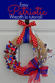 easy patriotic wreath a tutorial blissfully domestic