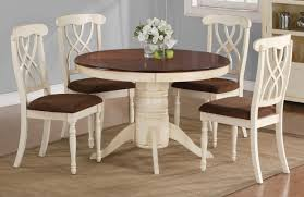 chair dining room white round pedestal table with wooden and