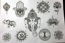 ohm ganesh tattoo design rubbersoulennon on deviantart inside dot
