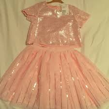 41 off h u0026m other kids h u0026m sequenced top and matching skirt from