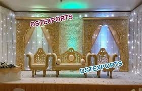 wedding backdrop on stage south indian wedding backdrop stage dst exports patiala id