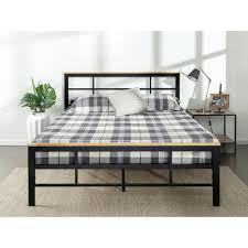 zinus urban metal and wood black twin platform bed frame hd hbpbc