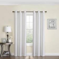 Blackout Curtains White Eclipse Cassidy Blackout White Polyester Grommet Curtain Panel 84