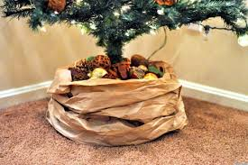 Black Tree Skirts A Kraft Paper Tree Skirt To Dress Your Christmas Tree In Style