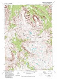 Wy Map Squaretop Mountain Topographic Map Wy Usgs Topo Quad 43109b7