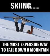 Skiing Memes - skiing the most expensive way to fall down a mountain fall meme on