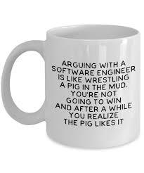 software engineer mug never argue with a software engineer
