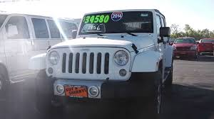 white jeep wrangler for sale ontario 2014 jeep wrangler unlimited suv white for sale dayton troy