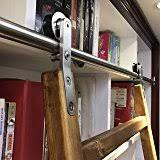 Sliding Bookshelf Ladder Amazon Com Rockler Classic Rolling Library Ladder Kit 8 U0027h With