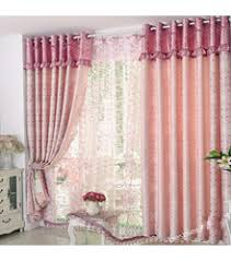 Soft Pink Curtains Cotton And Polyester Decorative Artsy Contemporary Floral Curtains