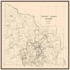 Mesa Verde Map Old County Map Yavapai Arizona 1903