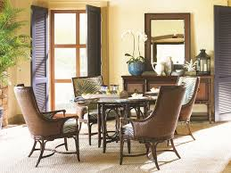 Wicker Dining Chairs Indoor Bedroom Tommy Bahama Furniture Outlet With Elegant Dark Wood
