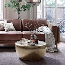 Metal Side Tables For Living Room Hammered Metal Coffee Table Antique Brass Coffee Metals And